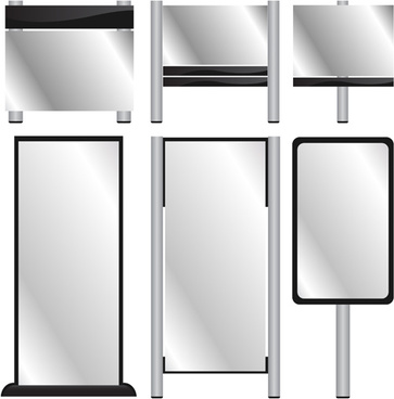 different display panels design elements vector