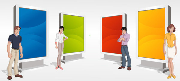 different figure image vector