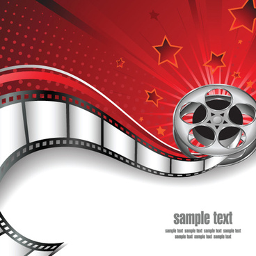 different film and movie mix vector