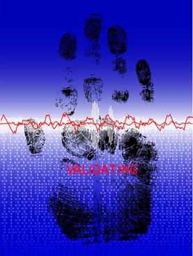 different fingerprints design elements vector