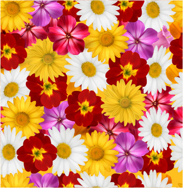 different flower seamless pattern creative vector