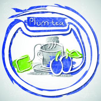 different fruit tea design vector