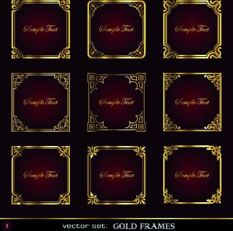 367e0ffa4006 Gold frame vector free vector download (7