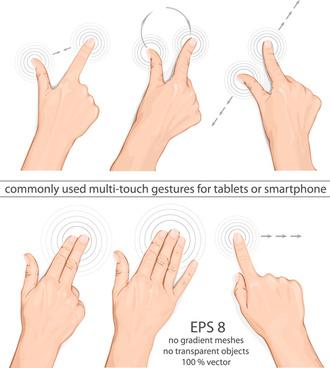 different hands gesture design vector