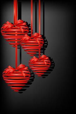 different heart background art vector