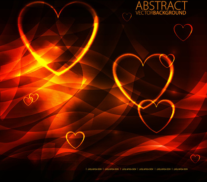 different heart background art vector