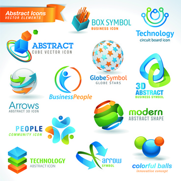 different industries icons and symbols vector