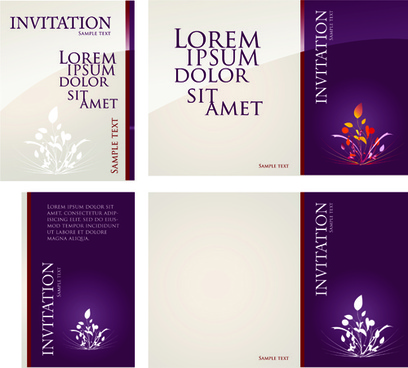 different invitation cover design vector