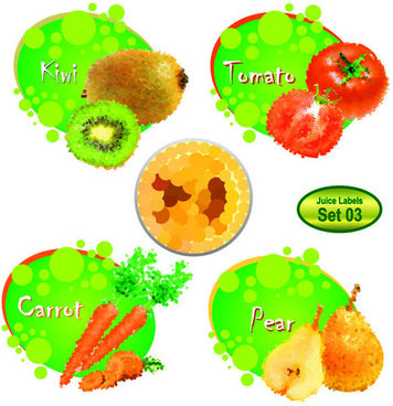 different juice labels design vector