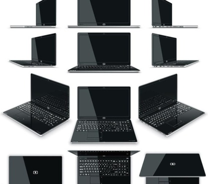 different laptop desiang template vector