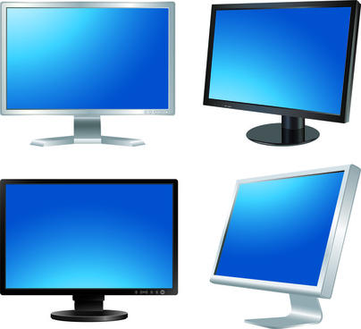 different lcd monitor design vector