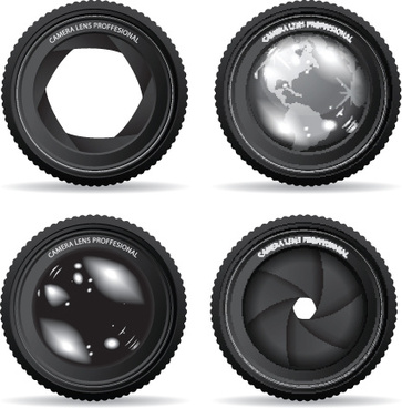 different lens design elements vector