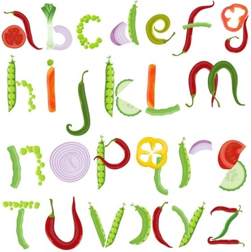different letters 03 vector