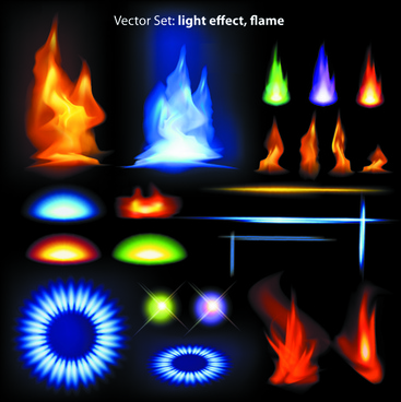 different light effects design elements vector