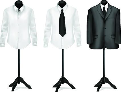 different mens wear illustration vector