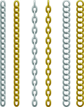 Metal chain links illustration Free vector in Adobe