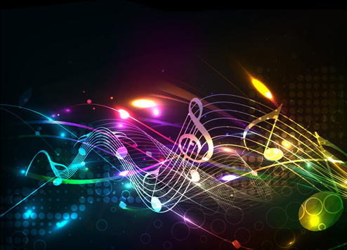 different music elements vector backgrounds art