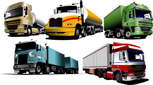 different of trucks vector illustration