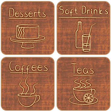different of vintage food labels vector