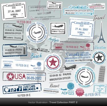 different passports template vector