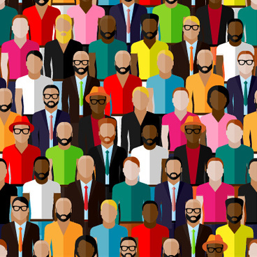 different people pattern seamless vector