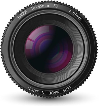 different photo lens design vector