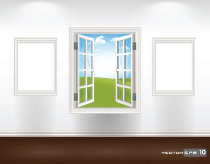 different plastic window design elements vector