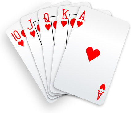 different playing card vector graphic