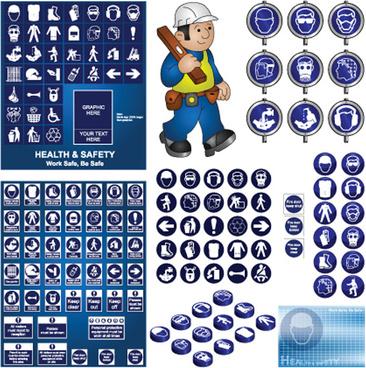different prevention symbols vector set