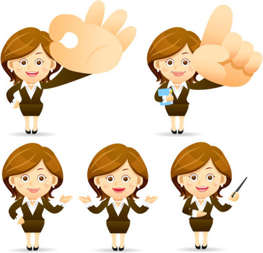 different profession people vector set