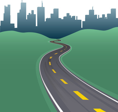 different road design vector