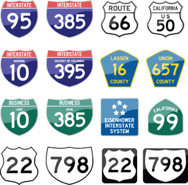 different road signs design vector