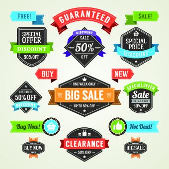 different sale label vector set