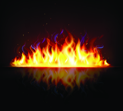 different shapes of the fire elements vector