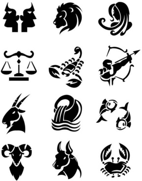 different signs of the zodiac design vector