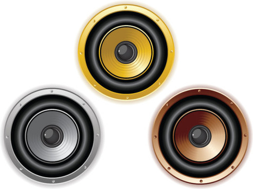 different speaker vector graphic