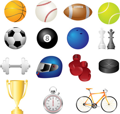 Free cartoon pictures of sports equipment free vector download ... b9460d676
