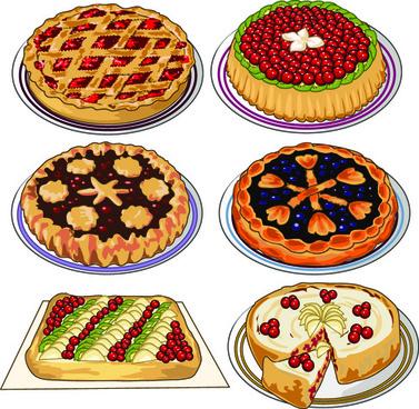 different tasty pizza vector design
