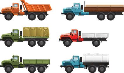 different transport icon design vector set