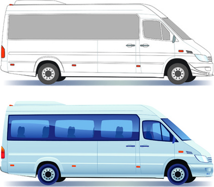 different transport vehicles design vector