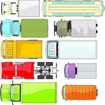 Different truck vector