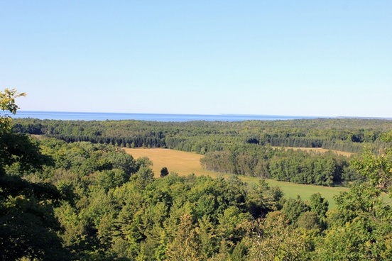 different view from tower on washington island wisconsin