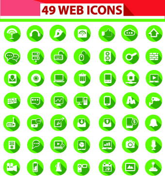 different web icon set