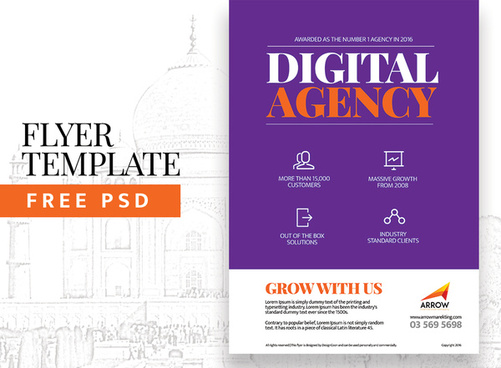 digital agency flyer template