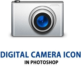 Digital Camera Icon PSD
