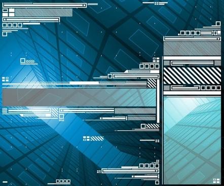 Digital Elements Design Background Vector Graphic