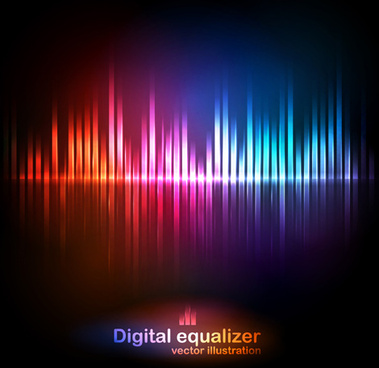 digital equalizer colorful background vector