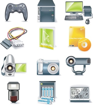 digital equipment icon vector 2