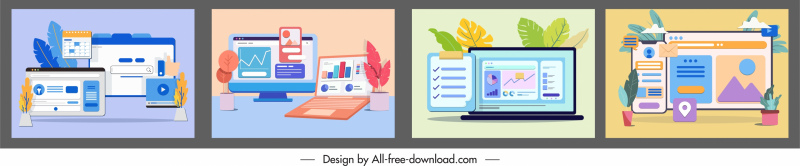digital media background templates computing sketch colorful classic