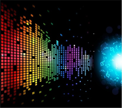 Digital Music Background